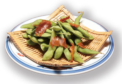 枝豆と焼味噌